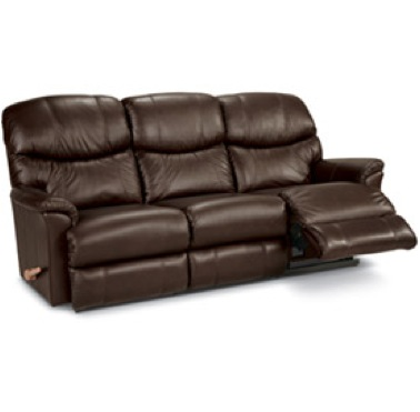 "Three Seat Reclining Sofa Material: Leather Dimensions: 85""w X 42""d X 40""h"