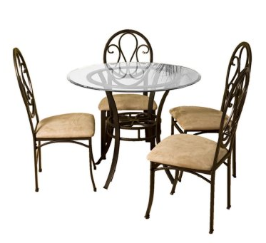 Iron and Glass Dining Set